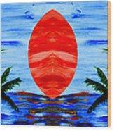 Happy Island Wood Print