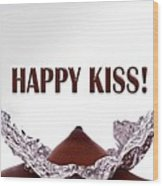 Happy Kiss Wood Print