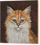 Happy Kitty Wood Print