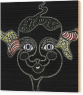 Happy Licorice Girl Wood Print