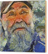 Happy Man Wood Print