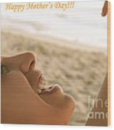 Happy Mother's Day Card Wood Print