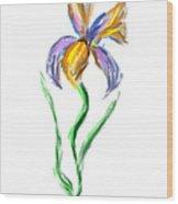 Happy Mother's Day Iris Wood Print