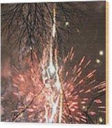 Happy New Year 2014 Three Wood Print