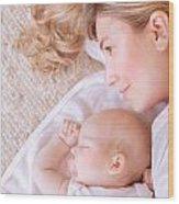 Happy Parenthood Concept Wood Print
