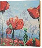 Happy Poppies  Wood Print by Andrei Attila Mezei