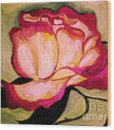 Happy Red Rose Wood Print by Sidney Holmes
