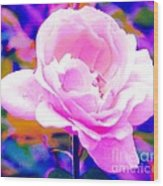 Happy Rose Wood Print