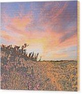 Happy Sunset Wood Print