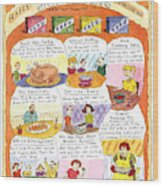 Happy Surrogate Thanksgiving Wood Print