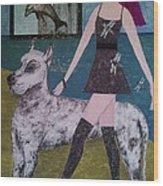Happy Walk By Jasna Gopic Wood Print