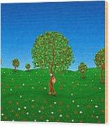 Happy Walking Tree Wood Print