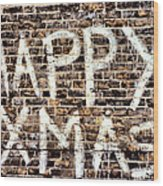 Happy Xmas Wood Print