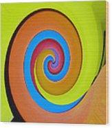 Happy Swirl Wood Print