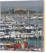 Harbor Antibes  Cote D'azur Wood Print