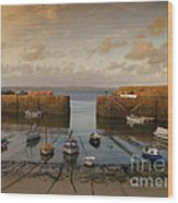 Harbor At Dusk Wood Print by Pixel Chimp