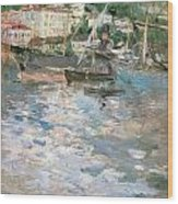 Harbor At Nice Wood Print