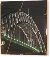Harbor Bridge Wood Print