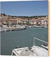 Harbor Cassis Wood Print