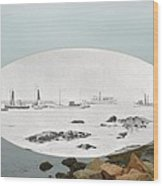 Harbor Entrance At Sakonnet Point In Little Compton Ri Wood Print