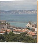Harbor Entrance Marseille Wood Print