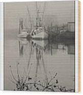 Harbor Fog No.4 Wood Print
