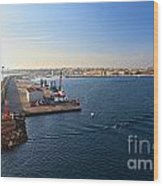 harbor in Porto Torres Wood Print