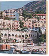 Harbor, Kalkan, Turkey Wood Print