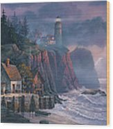 Harbor Light Hideaway Wood Print