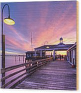 Harbor Lights Wood Print