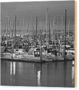 Harbor Lights II Wood Print