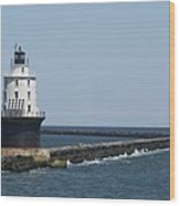 Harbor Of Refuge Lighthouse II Wood Print