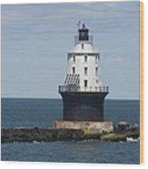 Harbor Of Refuge Lighthouse IIi Wood Print