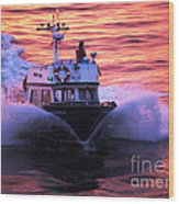Harbor Pilot Wood Print