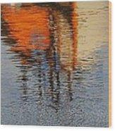 Harbor Reflecting Wood Print
