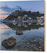Harbor Reflection Wood Print