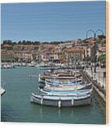 Harbor Scene Cassis  Wood Print