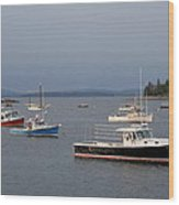 Harbor Scene I - Maine Wood Print