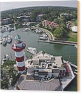 Harbor Town 1 In Hilton Head Wood Print