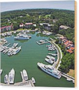 Harbor Town 6 In Hilton Head Wood Print