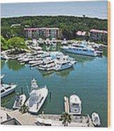 Harbor Town 7 In Hilton Head Wood Print
