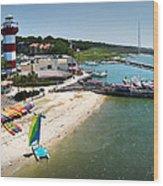 Harbor Town Beach 3 In Hilton Head Wood Print
