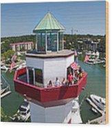 Harbor Town Lighthouse In Hilton Head Wood Print
