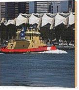 Harbor Tug Wood Print