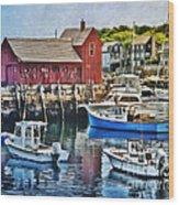 Harbor View Wood Print