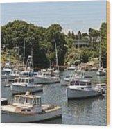 Harbor Views Wood Print