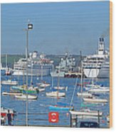 Harbour And Queen's Wharf - Falmouth Wood Print