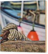Harbour Knots Wood Print