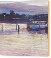Harbour Lights - Apollo Bay Wood Print