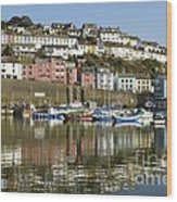 Harbour Mirrored Wood Print